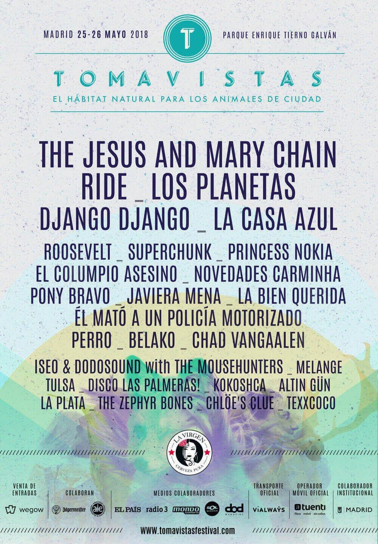 Cartel Festival Tomavistas Edición 2018