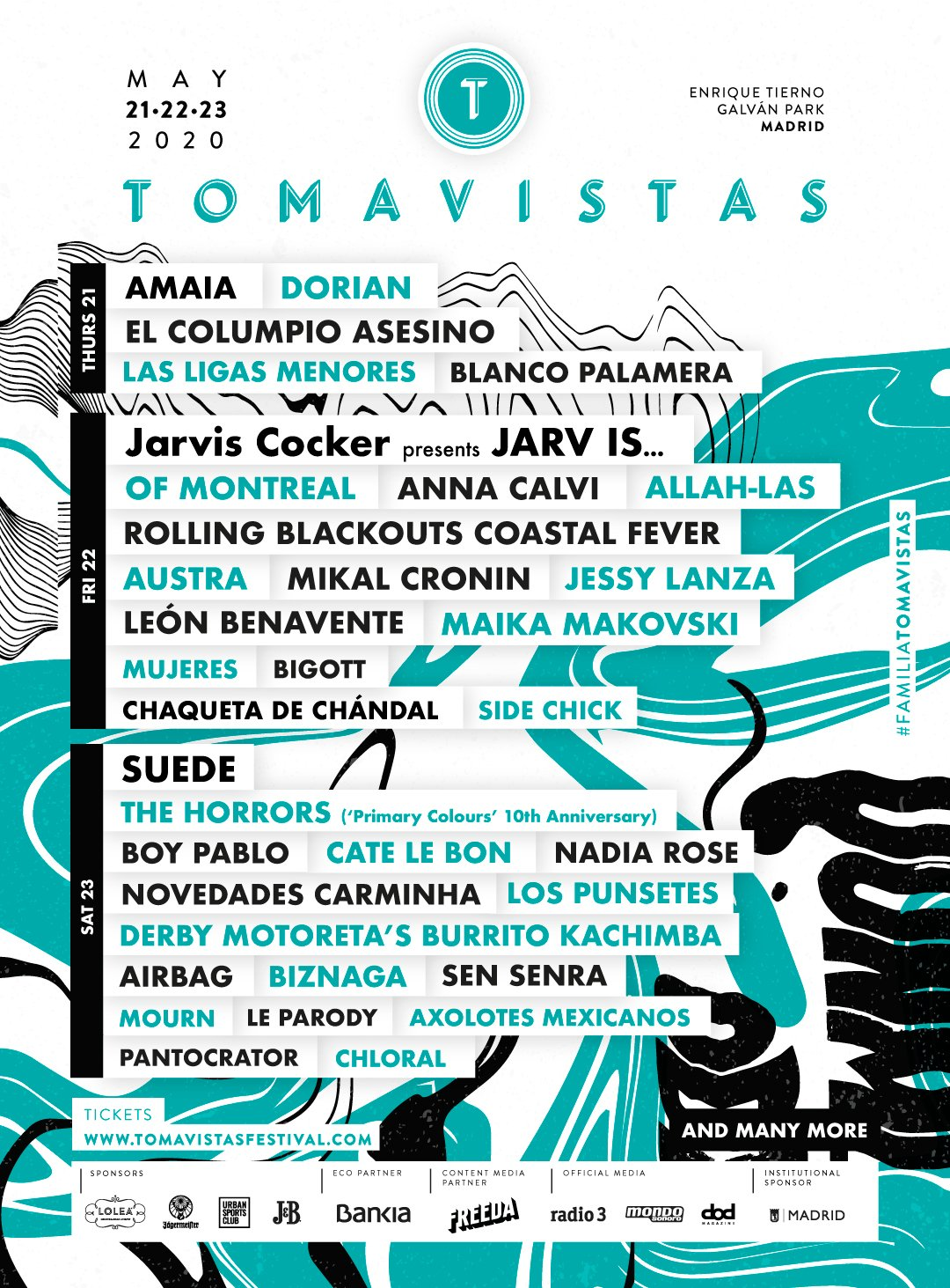 Tomavistas lineup