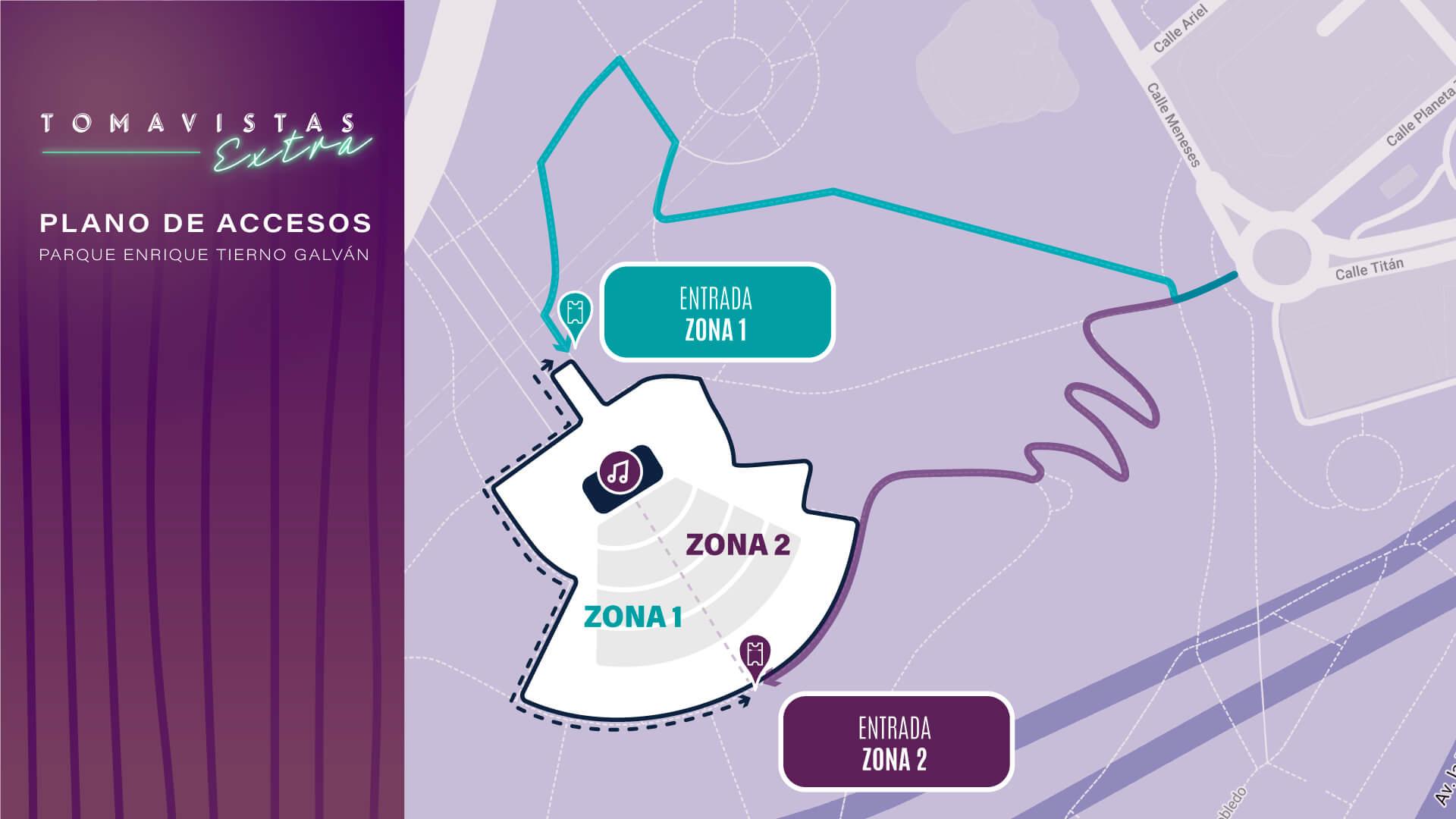 plano accesos Tomavistas Extra 2021